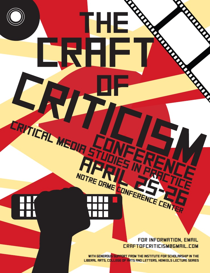 Gloriously Back to Front: The Craft of Criticism Conference