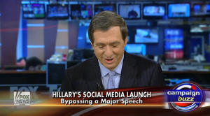 Fox News on Clinton's Announcement