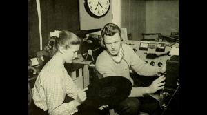Pat Callahan & Herb Brubaker, WMUC, 1955.