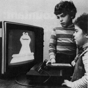 kids watching sesame street