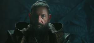 Ben Kingsley's Mandarin in Iron Man 3, styled as an Arab terrorist.